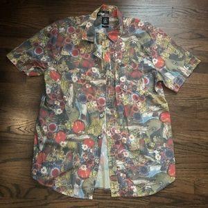 Volcom Mens Slim Fit Button Down Shirt  L